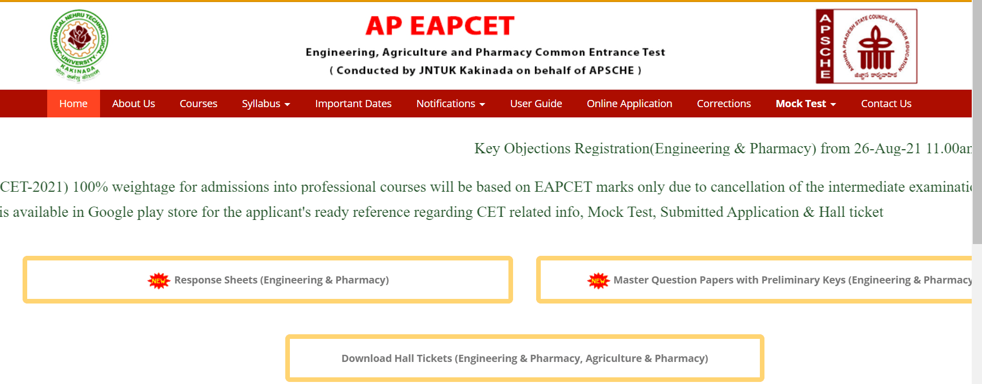 AP EAPCET Counselling Registration 2021