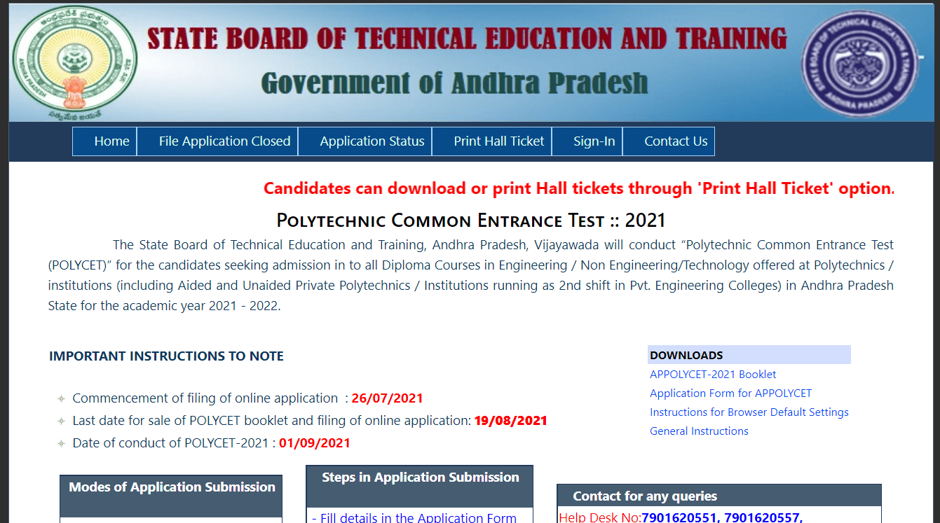 AP Polycet Counselling 2021 Date