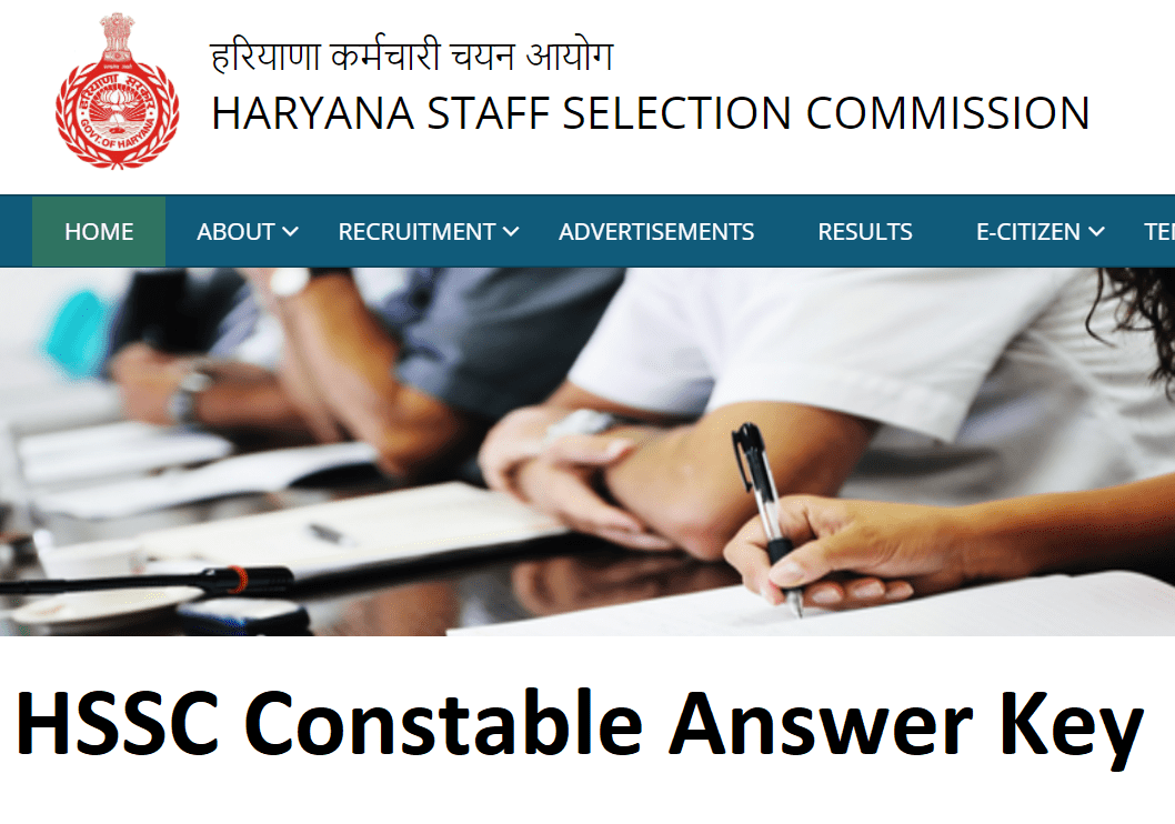 HSSC Police Constable Answer Key 2021